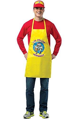 Rasta Imposta Men's Breaking Bad Apron and Visor, Yellow/Red, One - Costume Bad Breaking