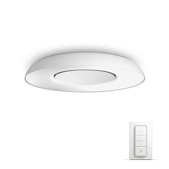Philips Hue White Ambiance Plafón 2GX13, 32 W, Blanco, 39 x 39 x 7.2 cm: Philips: Amazon.es: Iluminación
