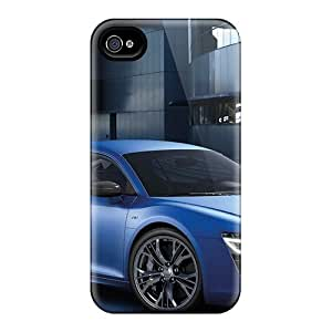 Tpu Fashionable Design Audi R8 V10 Plus 2013 Rugged Case Cover For Iphone 4/4s New