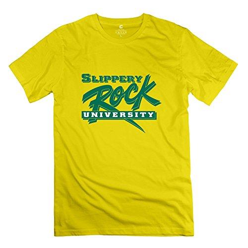 Leberts Vintage Slippery Rock University Of Pennsylvania T-Shirt For Men Yellow Size XL