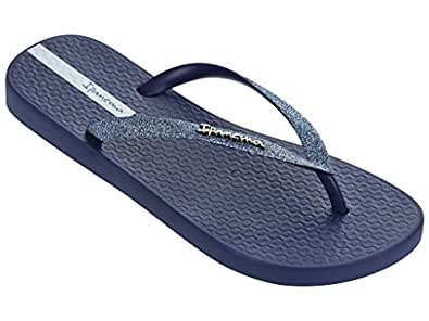 Ipanema Women's Flip Flops, Sandals, Thongs, Casuals, Beach wear, Lolettaii, Blue, 6 US