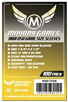 Standard 1.000 Mayday Board Card Game Sleeves Clear 63.5 x 88-10 Packs