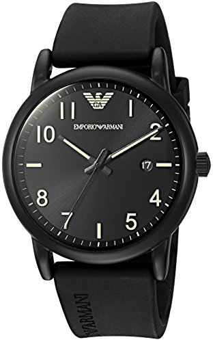 Emporio Armani Men's 'Sport' Quartz Stainless Steel and Rubber Casual Watch, Color:Black (Model: (Emporio Armani Sport Watch)