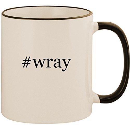#wray - 11oz Ceramic Colored Handle & Rim Coffee Mug Cup, Black