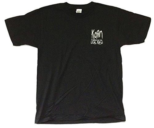 Korn Krew Local Crew Pony Black T Shirt Concert Tour (Local Crew Shirt)