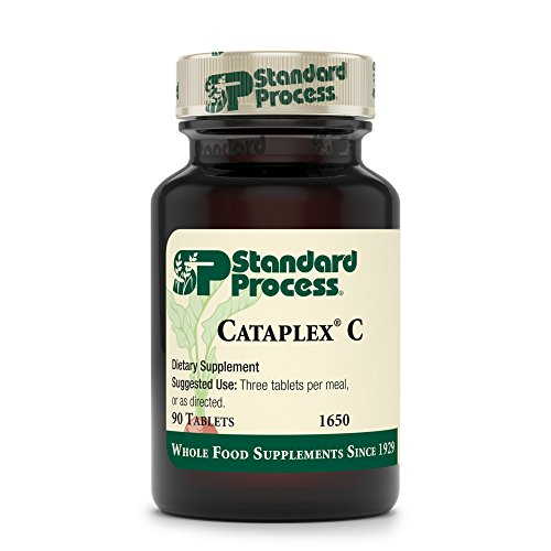 Standard Process - Cataplex C - Immune System Response Supplement, 17 mg Vitamin C, 30 mg Calcium, Supports Bone Health, Antioxidant Activity, Natural Collagen-Synthesis - 90 Tablets by Standard Process (Image #1)