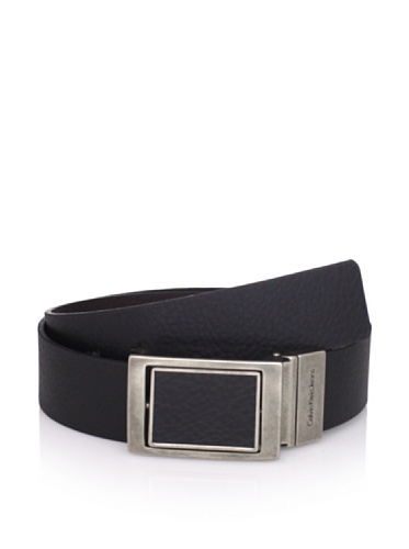 Calvin Klein Denim Belt (Calvin Klein Jeans Men's Black/Brown Reversible Belt 73810 (34, Black/brown))