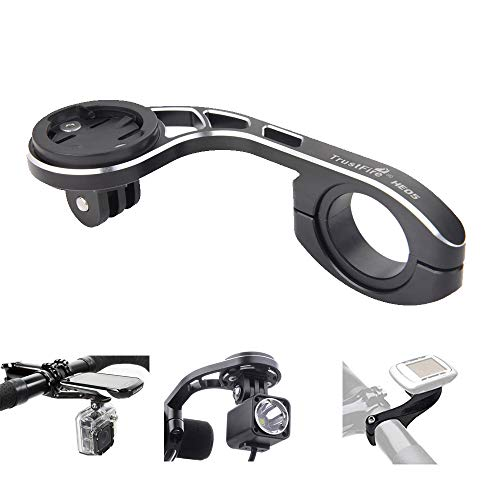 FCD TRUST Aluminium Alloy Out Front Bike Computer Combo Mount for Bryton GoPro Garmin Edge 200 500 510 520 800 810 820 1000 1030 and Gopro Camera,Compatible with 31.8mm 25.4mm Handlebar