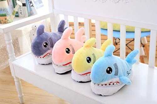 antidérapantes Animaux Requin Peluche Coton tête 3D de Animaux en Coton tête Pantoufles en Pantoufles épaisse Pantoufles Rose x4CqY1wv