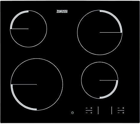 Zanussi ZEV 6340 FBA - Placa Vitrocerámica Zev6340Fba Con 4 Zonas ...