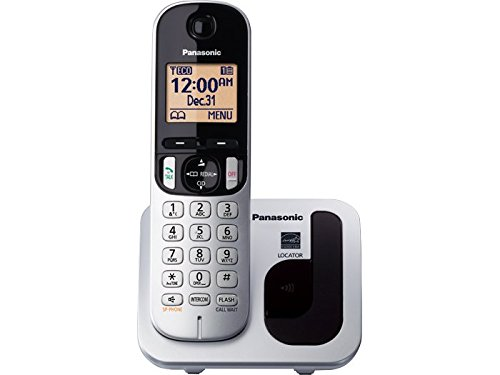 Panasonic KX-TGC210S DECT 6.0 Expandable Cordless Phone - One Handset (Black/Silver)