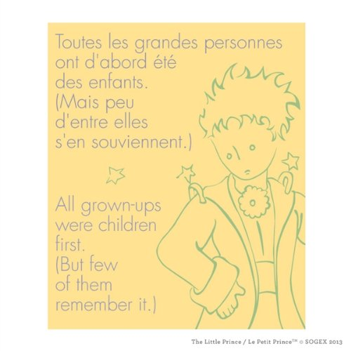 Walls 360 Peel & Stick Wall Decal: Le Petit Prince 'All Grownups were Children First' (10 in x 12 in)