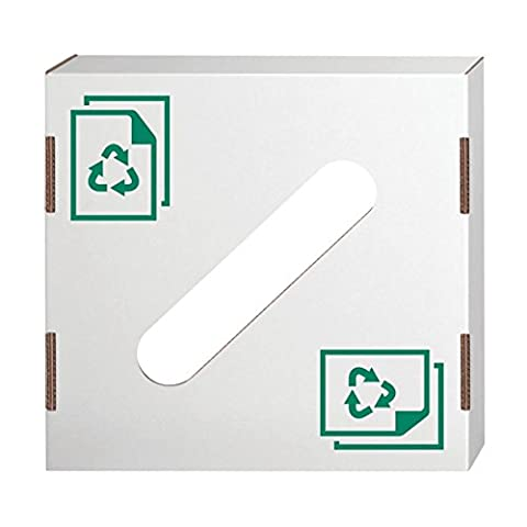 Bankers Box Corrugated Cardboard Trash and Recycling Container lids, Paper Recycling Icon, 10 Each - Paper Recycling Bin