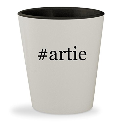 #artie - Hashtag White Outer & Black Inner Ceramic 1.5oz Shot Glass