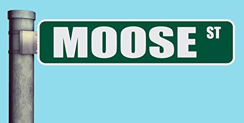 MOOSE ST STREET SIGN HEAVY DUTY ALUMINUM ROAD SIGN 17