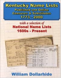 Kentucky Name Lists - Published and Online Censuses & Substitutes ...