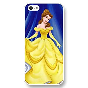Disney Cartoon Beauty and The Beast, Hard Plastic Case for iPhone 5c - Personalized Disney iPhone 5c Case - White