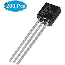 MCIGICM 200pcs 2n3904 npn Transistor, 2n3904 Bipolar (BJT) Transistors NPN 40V 200mA 300MHz 625mW TO-92-3
