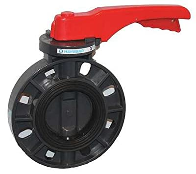 "Hayward BYCS1020E1LGA Series BYCS PVC Body & Disc EPDM Liner Lever for Butterfly Valve, 2"" Size by Hayward Industries"