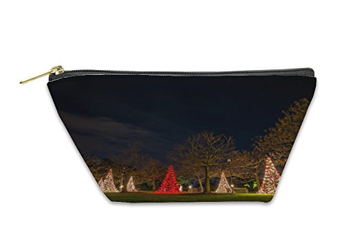 Longwood Handle (Gear New Accessory Zipper Pouch, Christmas Trees At Night Longwood Gardens Pennsylvania, Large, 5630869GN)
