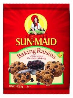 Sun-Maid Extra Moist, Natural Baking Raisins from California,1 Cup Bag (6 oz) (Pack of 1) -