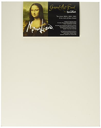 Speedball C953 10306 Mona Lisa 11-Inch-by-14-Inch Gessoed Art ()