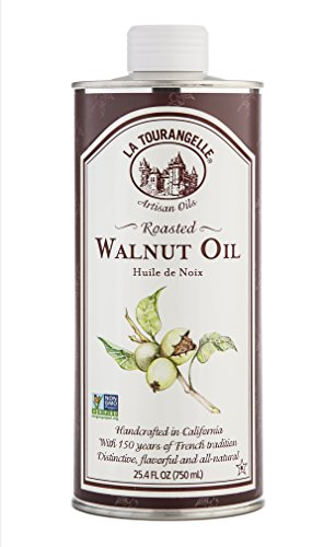 La Tourangelle Roasted Walnut Oil 25.4 Fl. Oz., All-Natural, Artisanal, Great for Salads, Grilled Fish and Meat, or Pasta ()