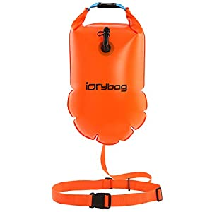 IDRYBAG Safety Swim Buoy Adult Tow Float 15L, Triathletes Open Water Swim Buoy Safe Training, Inflatable Float Swim Buoy…