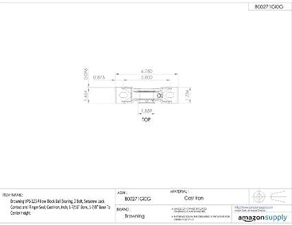 Amazon.com: Browning vps-123 almohada Bloque Ball Bearing, 2 ...