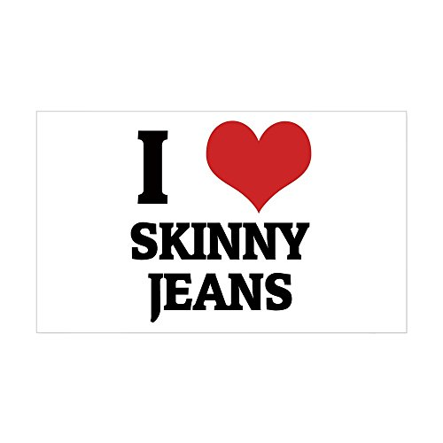 CafePress I Love Skinny Jeans Rectangle Sticker Rectangle Bumper Sticker Car Decal