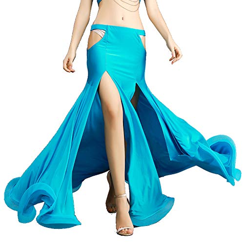 ROYAL SMEELA Belly Dance Costume for Women Belly Dancing Skirts Maxi Fishtail Mermaid Skirt Dress Bellydance Dancer Outfit Light - Skirt Dancer