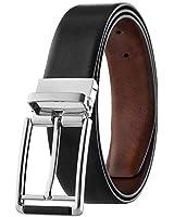 Mens Top Grain Leather Reversible Belt Italian...
