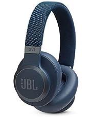 JBL Live 650BTNC Wireless Bluetooth Noise Cancelling Headphone, 40mm Driver, 3.5mm Jack, Blue