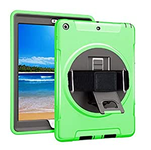 applicable 2018 iPad 9.7 Car Protection Cover 2017 iPad Outdoor Sports Protection Case-Green