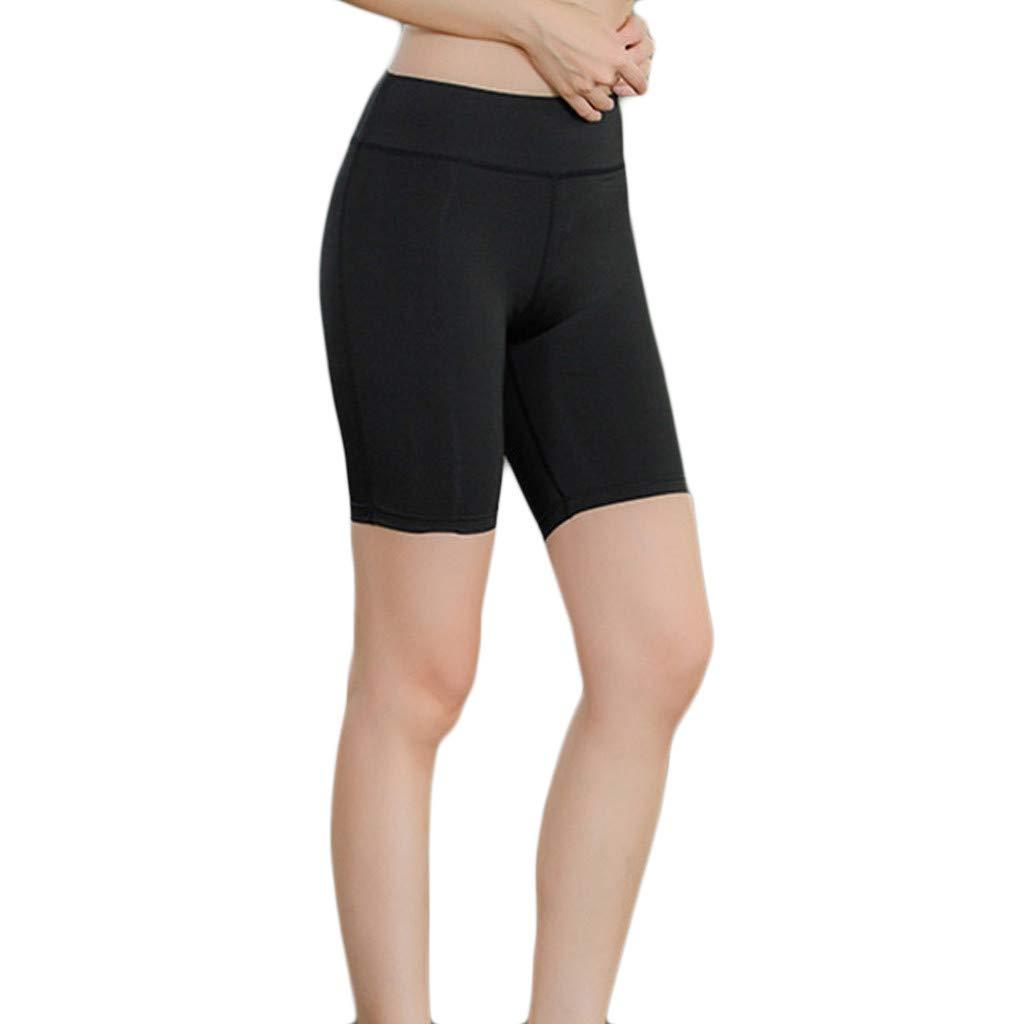 4Clovers Women's High Waist Yoga Pants Workout Running Capri Leggings Active Athletic Leggings Black