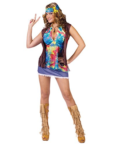 Hippie Summer of Love Adult Costume - (Summer Love Hippie Costume)