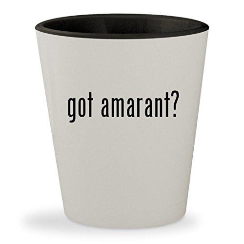 got amarant? - White Outer & Black Inner Ceramic 1.5oz Shot - Stoudemire Glasses E Amar