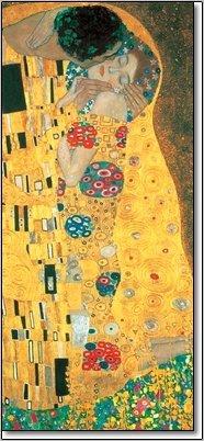 quadri & cornici HB - Gustav Klimt  Il Bacio  quadro,stampa su legno, poster su legno, bordo nero