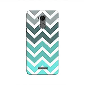 Cover It Up - Jagged Blue&Gray Coolpad Note 5Hard Case