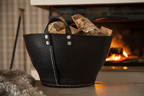 Classic Recycled Rubber Basket, for Wood Logs, Shoes or Blankets