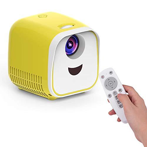 Aibecy Mini LED Video Projektor Heimkino Beamer Filmprojektor 480 * 320 Native Auflösung 50000 Stunden mit Fernbedienung…