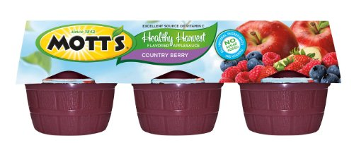 Motts Healthy Harvest (Mott's, Healthy Harvest, Country Berry, 3.9oz Cups, 6 Count, 23.4oz Package (Pack of 4))