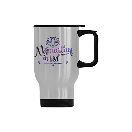 Funny Gift Coffee Mug Funny Yoga Quote - Namaste in Bed ...