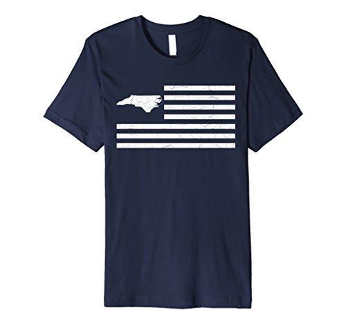 Mens 50nifty: States & Stripes Collection- North Carolina T-shirt Large - Nc Charlotte Us