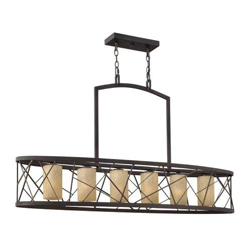 Fredrick Ramond FR41616ORB, Nest Glass Chandelier Lighting, 6LT, 600 Watts, Oil Rubbed Bronze ()