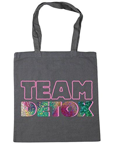HippoWarehouse equipo Detox Tote Compras Bolsa de playa 42cm x38cm, 10litros gris grafito