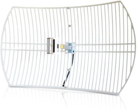 Alfa Network Aga de 2424 Wireless LAN Rejilla Antena 24dBi, 2.4 GHz, UV Protected, Antena, Interior y Exterior