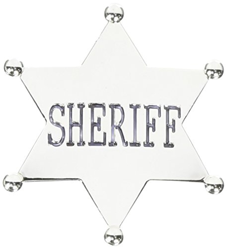 Forum Novelties Wild Western Silver Star Sheriff Badge]()