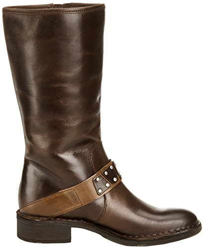 Fly London Fina Rug - Botas Estilo Motero Mujer Dark Brown / Camel 1