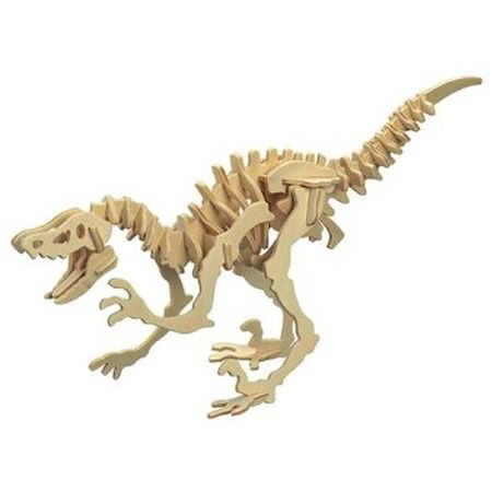Deinonychus Velociraptor Wooden Dinosaur Skeleton Model Kit (Wooden Kit Skeleton)